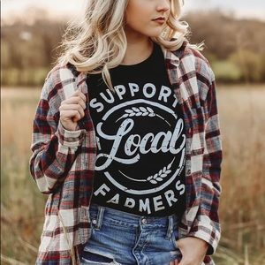 Tops - Support Local Farmers Crew Tee